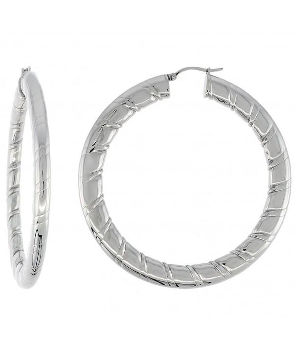 Stainless Earrings Stripe Pattern Weightt