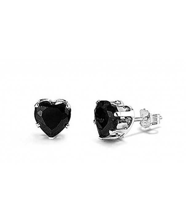Sterling Silver Black Zirconia Earrings
