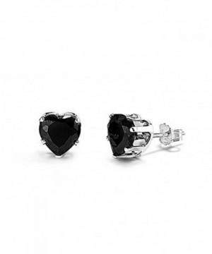 Sterling Silver Black Zirconia Earrings