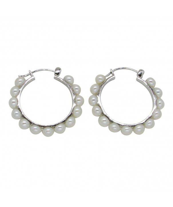 Sterling Cultured Freshwater Earrings Click Down