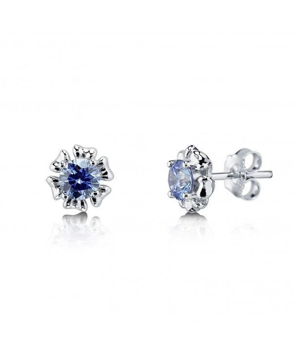 BERRICLE Sterling Earrings Swarovski Zirconia