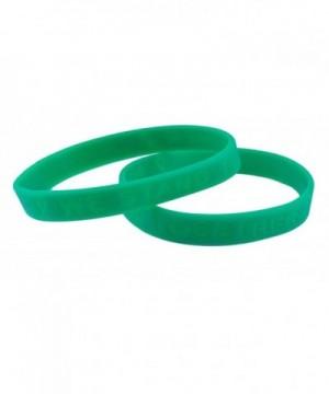 Green Awareness Silicone Bracelet Bracelets