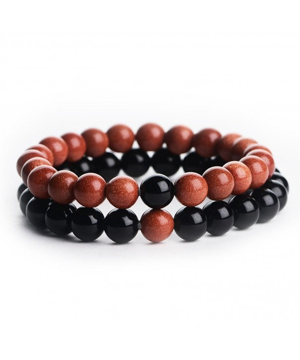 Natural Gemstone Distance Bracelets 204700124
