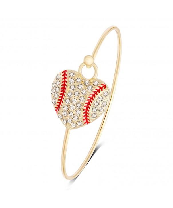 RUXIANG Crystal Baseball Softball Bracelet