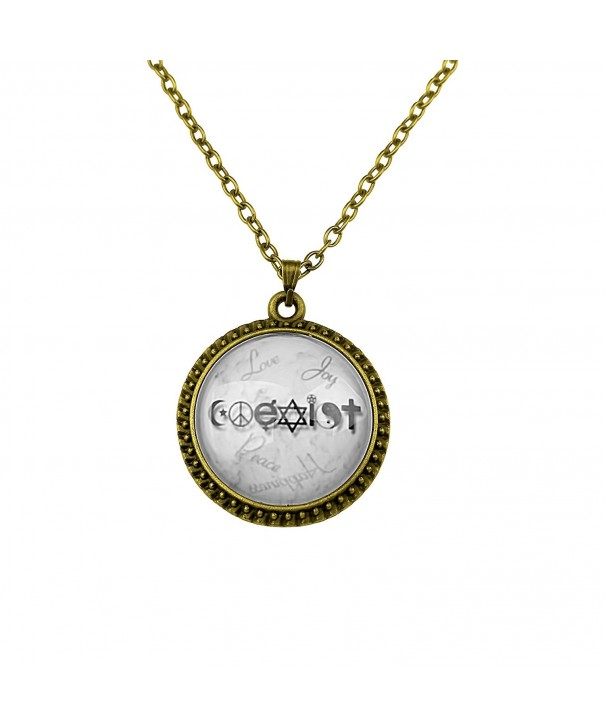 Art Attack Goldtone Christianity Necklace
