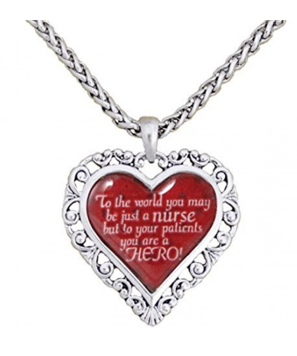 World Nurse Silver Necklace Nursing
