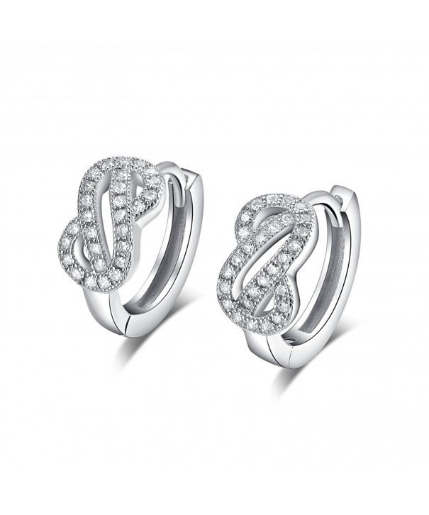 Sterling Simulated Diamond Earrings ESCH8070