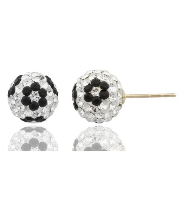 Preciosa Crystals Silicone Earrings GO 111