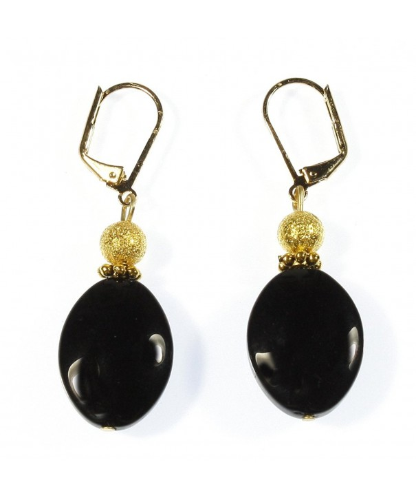 Black Lynx Earrings Dangle Inches
