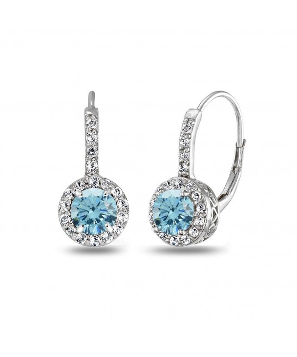 Sterling Leverback Earrings Swarovski Crystals