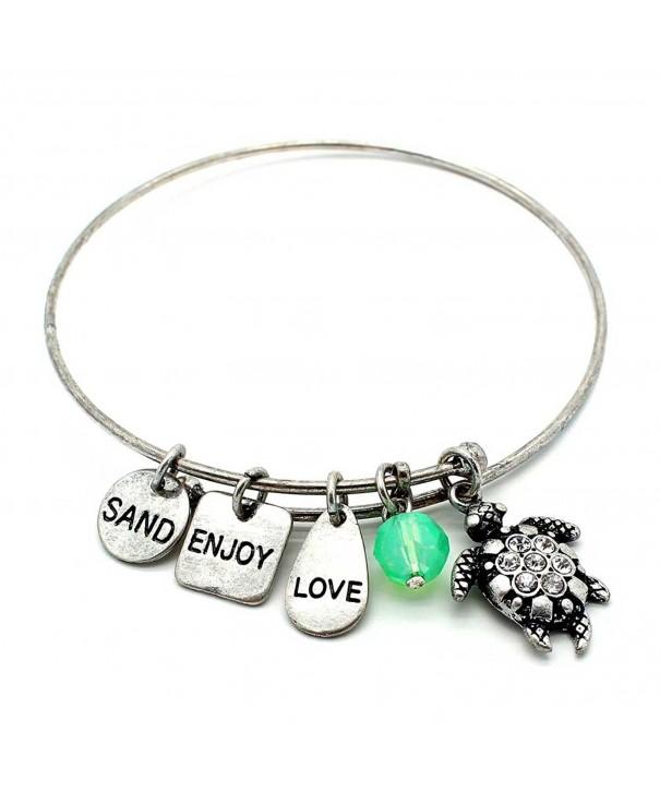 Symbology Turtle Bangle Bracelet Silver