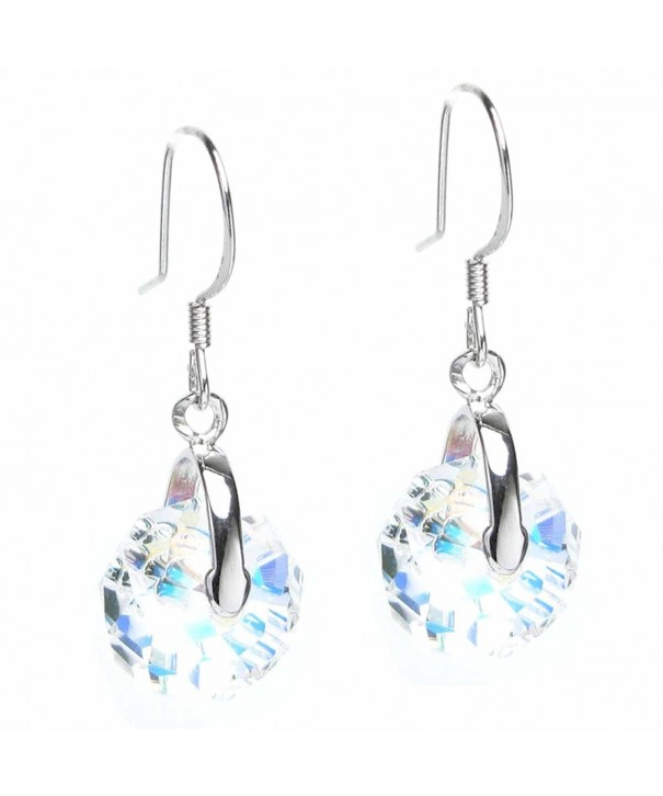 Sterling Swarovski Elements Borealis Briolette