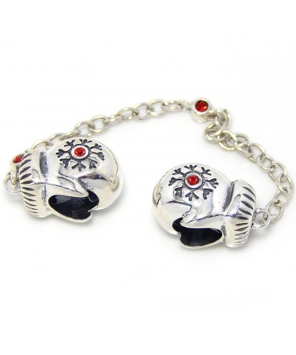 Sterling Mittens Christmas European Bracelets