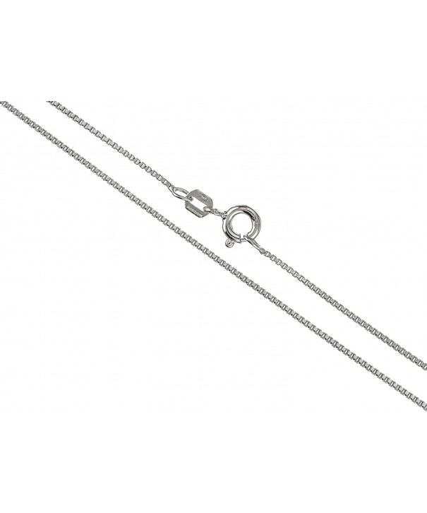 Sterling Silver 1 1mm Necklace rhodium plated silver