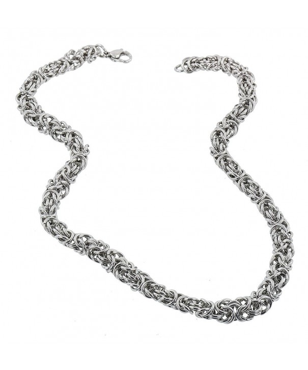 Stainless Steel 7MM Byzantine Necklace