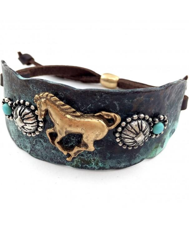 Western Peak Hammered Turquoise Bracelet