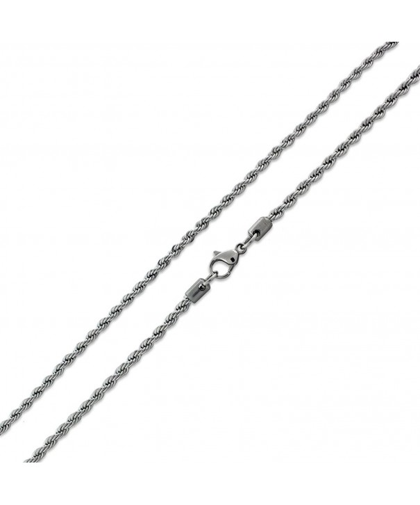 Stainless Steel Chain Necklace 2 4MM
