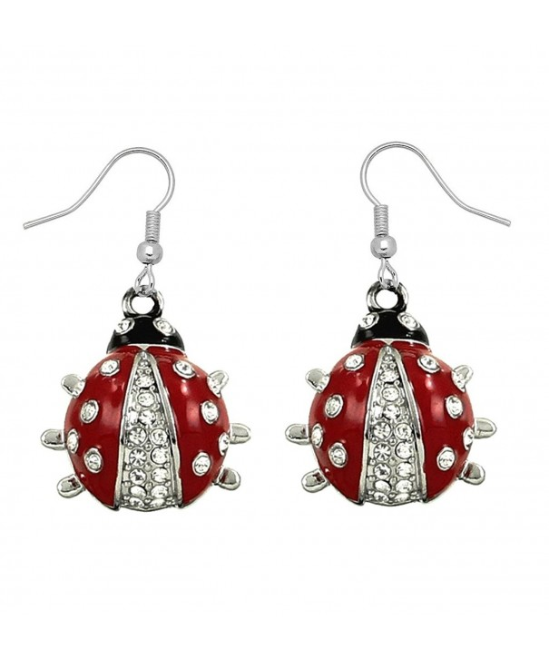 DianaL Boutique Earrings Enameled Crystals