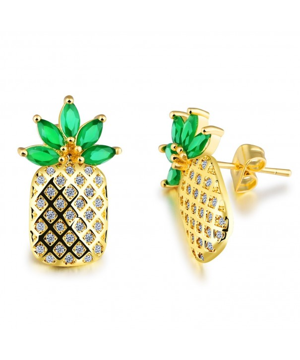 LOHOME Fashion Earrings Pineapple Rhinestone