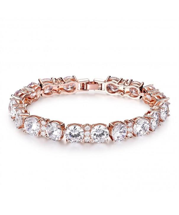 GULICX Gleaming Zirconia Crystal Bracelet