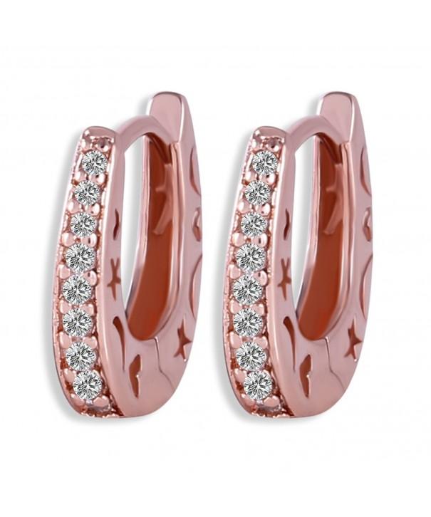 GULICX Pattern Glitter Zirconia Earrings