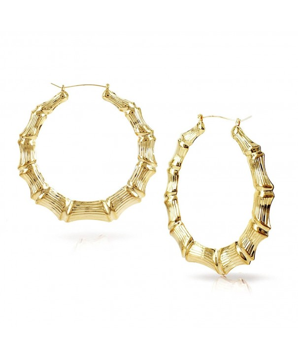 Hollow Casting Bamboo Earrings Inches