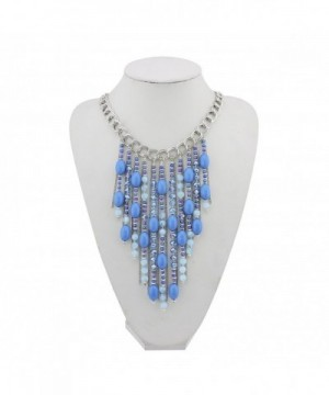 Fashion Pendant Collar Necklace NK 10346 royalblue