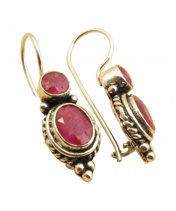 Sterling Silver Birthstone Vintage Earrings