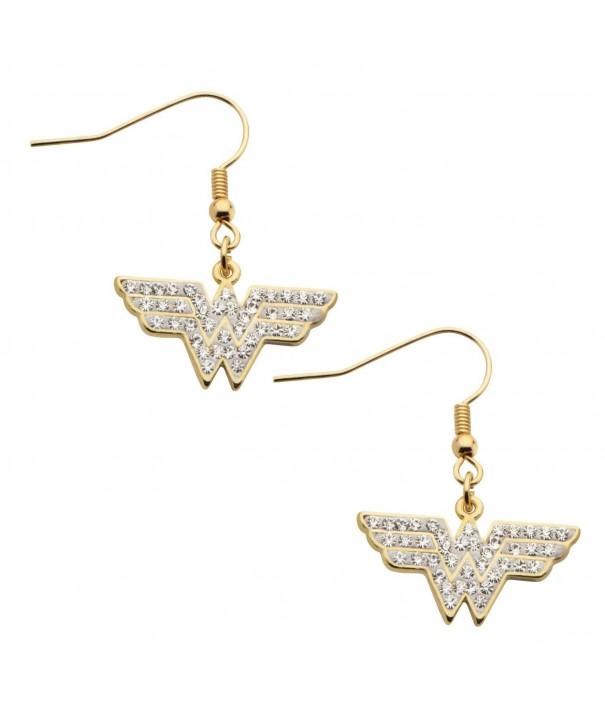 DC Comics Gold Plated Zirconia Earrings