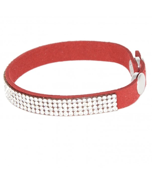 SMARTZONE Leather Bright Red