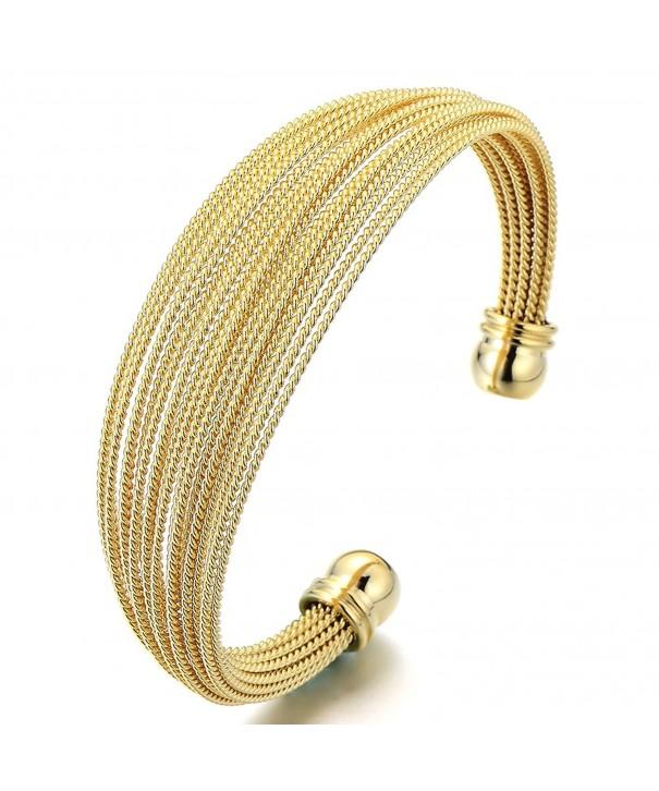 Multi Strand Womens Stainless Adjustable Bracelet