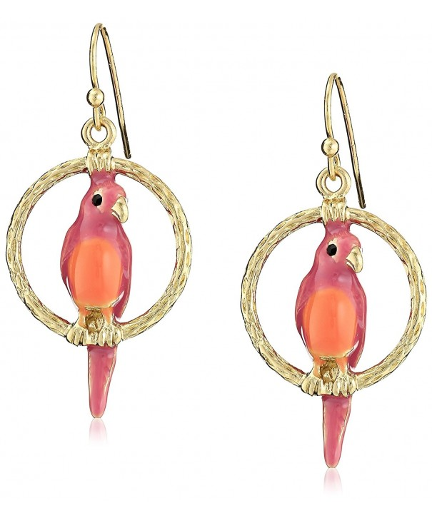 1928 Jewelry Gold Tone Enamel Earrings