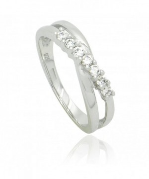 Sterling Silver Crossover Ring Band