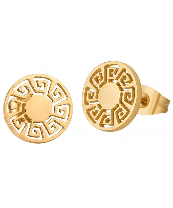 Tobert Stainless Pattern Earrings Jewelry