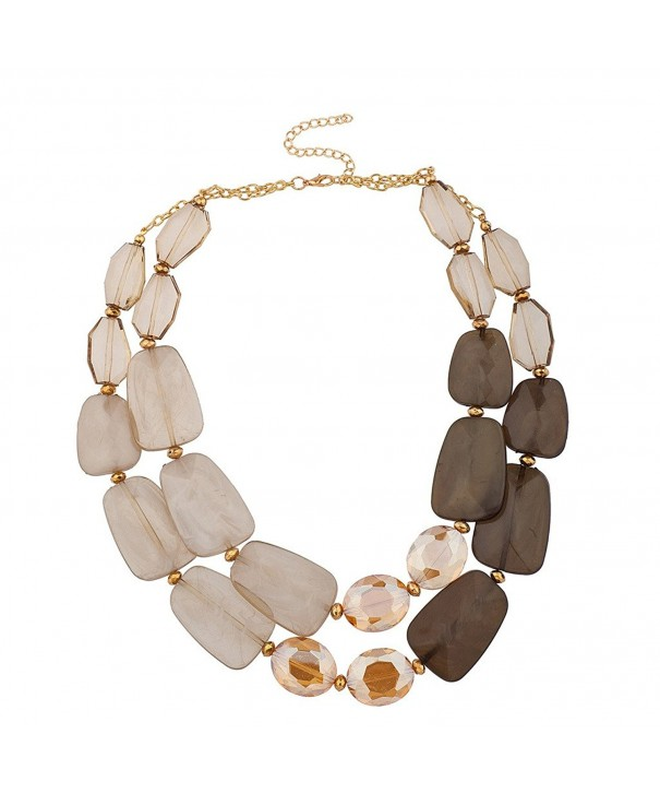 Lux Accessories Acrylic Statement Necklace