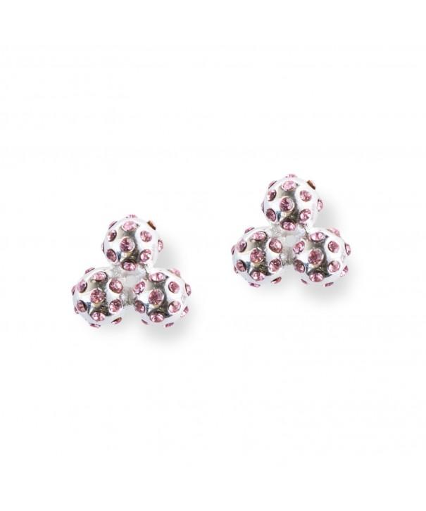 Chelsea Charles Crystal Cluster Earrings
