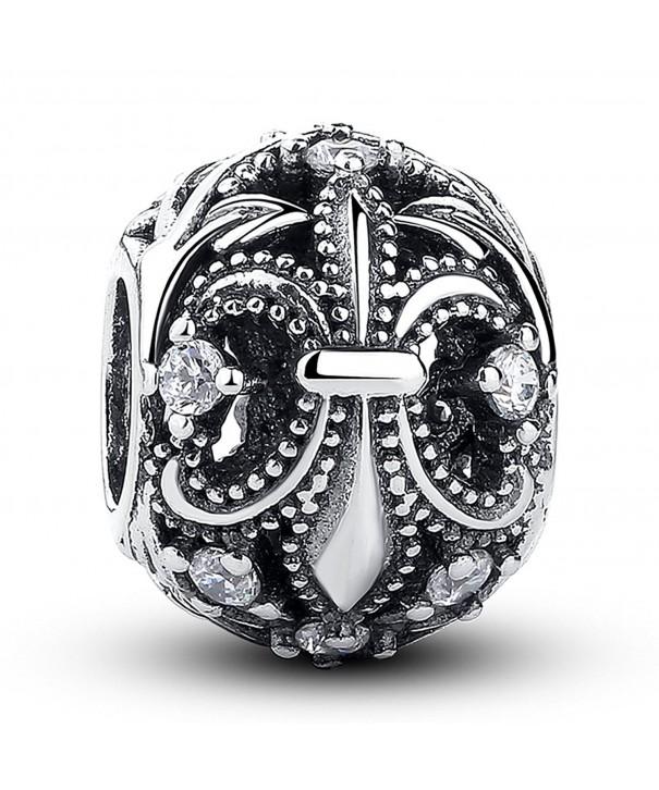 Kiss Fleur Sterling European Bracelet
