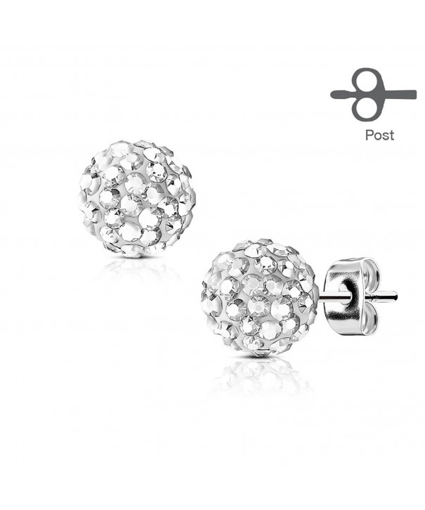 Surgical Steel Earring Crystal Ferido