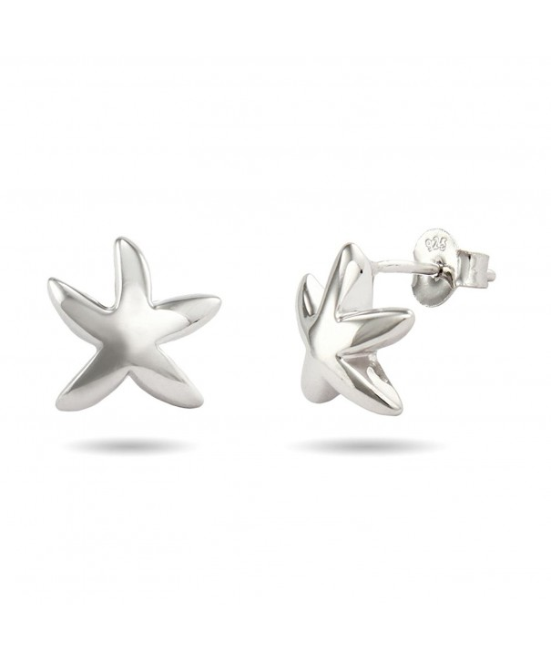Sterling Silver Starfish Earrings Inches