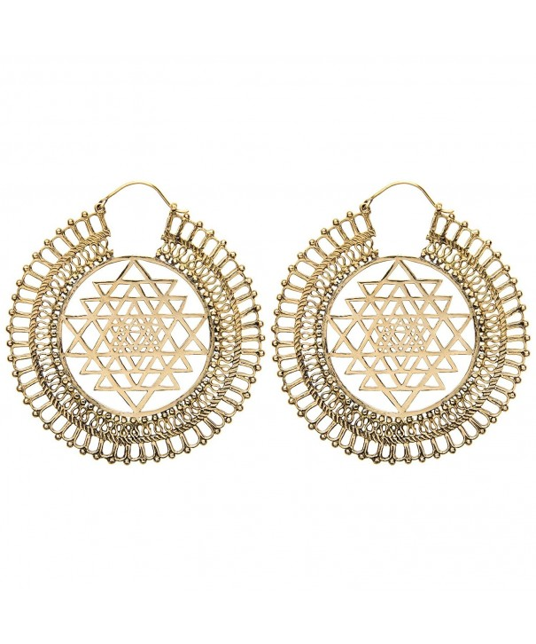 81stgeneration Womens Indian Cosmic Earrings