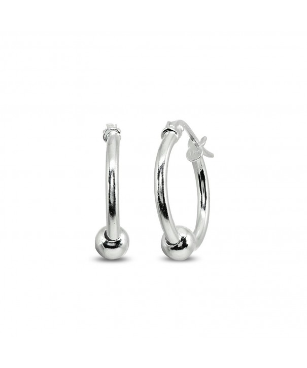 Sterling 1 5x15mm Polished Click Top Earrings