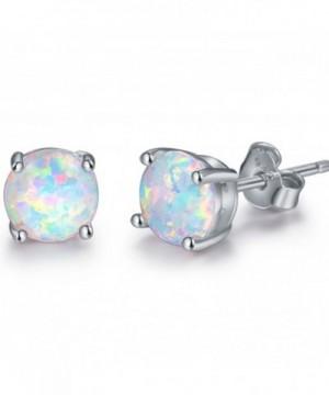 Rhodium Plated Created Earrings Width
