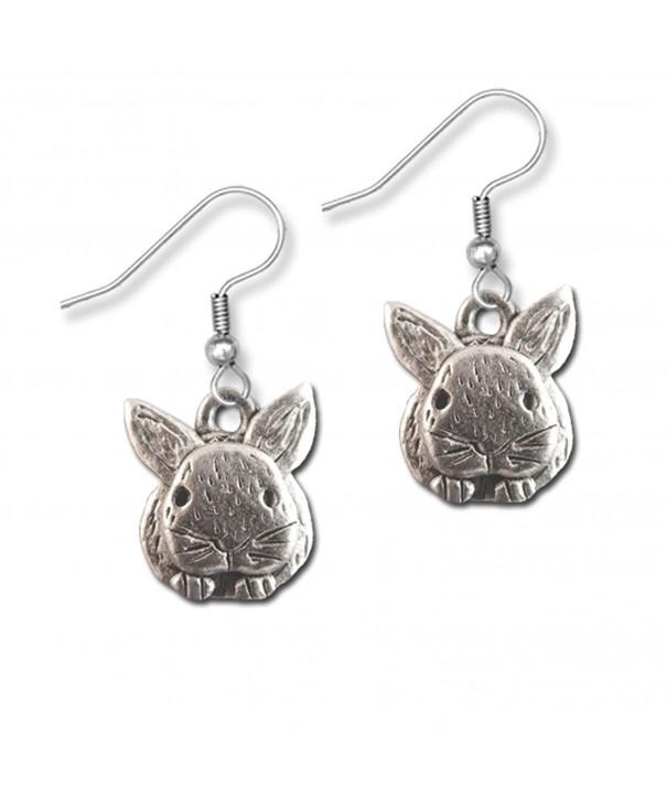 Pewter Rabbit Earrings Magic Zoo