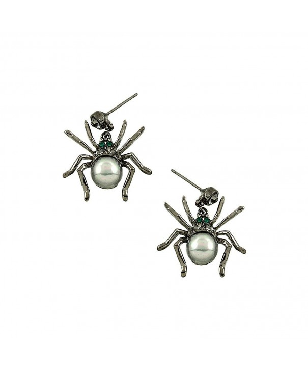 Liavys Black Spider Fashionable Earrings