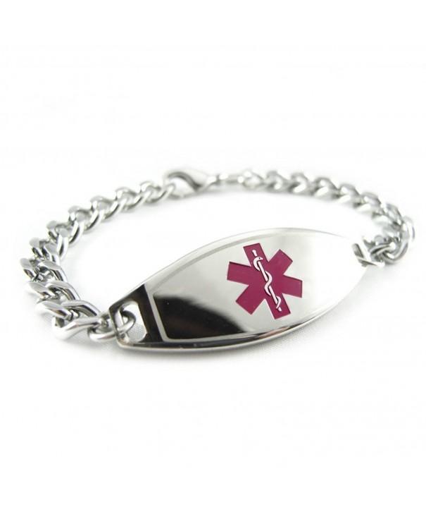 MyIDDr Pre Engraved Customized Penicillin Bracelet