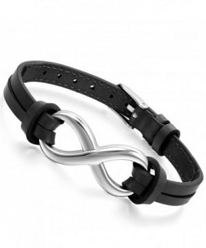 Flongo Stainless Infinity Friendship Wristband