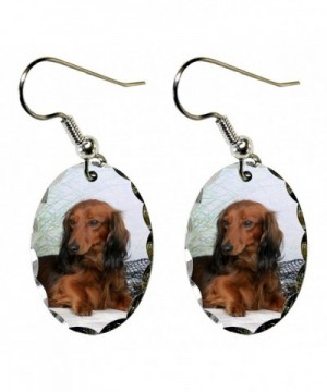 Canine Designs Dachshund Scalloped Earrings