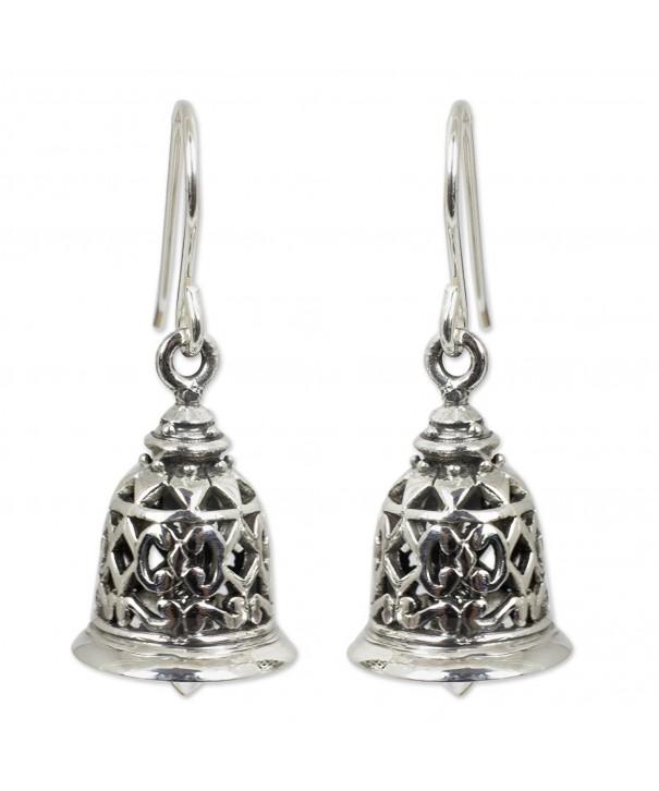 NOVICA Sterling Silver Bell Shaped Earrings