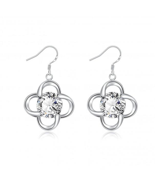 HOSBY Silver Plated Dangle Earrings