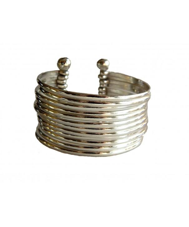 Silver Plated Stacking Elegance Bracelet